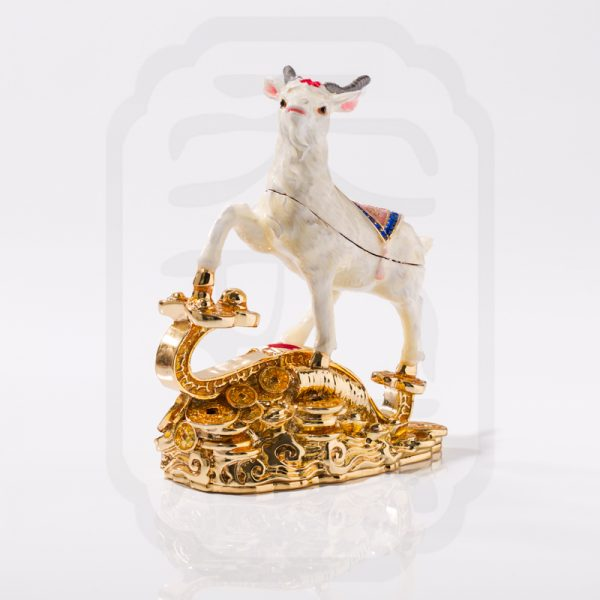 Bejewelled Goat Statue--3