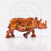Bejewelled Rhinoceros Statue Orange--2