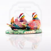 Bejewelled Mandarin Ducks Statue--2